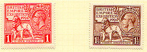 Wembley - British Empire Exhibition postage stamps