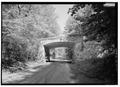 GENERAL VIEW FROM NORTH TO SOUTH UNDER ROUTE 637 BRIDGE. - Yorktown Battlefield Tour Roads, Yorktown, York County, VA HAER VA,100-YORK.V,2-17.tif