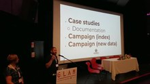 File:GLAM WIKI 2018 - Structured Data on Wikimedia Commons - Introduction and panel of Wikimedia pilots.webm