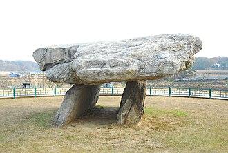 Ganghwa County - An example of a dolmen on Ganghwa