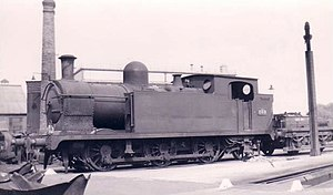 Welsh 0-6-2T locomotives - Former Barry Railway 0-6-2T at Swindon in 1950, British Railways no. 269