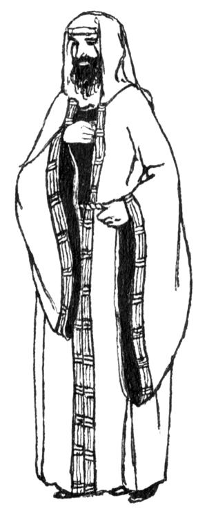 Gaberdine - A man wearing a gaberdine