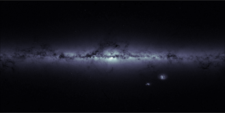 Gaia (spacecraft) - A map of the sky by star density.