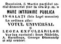 Galaţi PSDMR meeting, March 5, 1895.JPG
