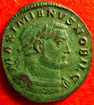 Follis - A follis of Galerius as caesar.