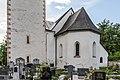 Gallizien mit Pfarrkirche hl Jakobus d Ä Apsis mit Friedhof 09052018 3209.jpg