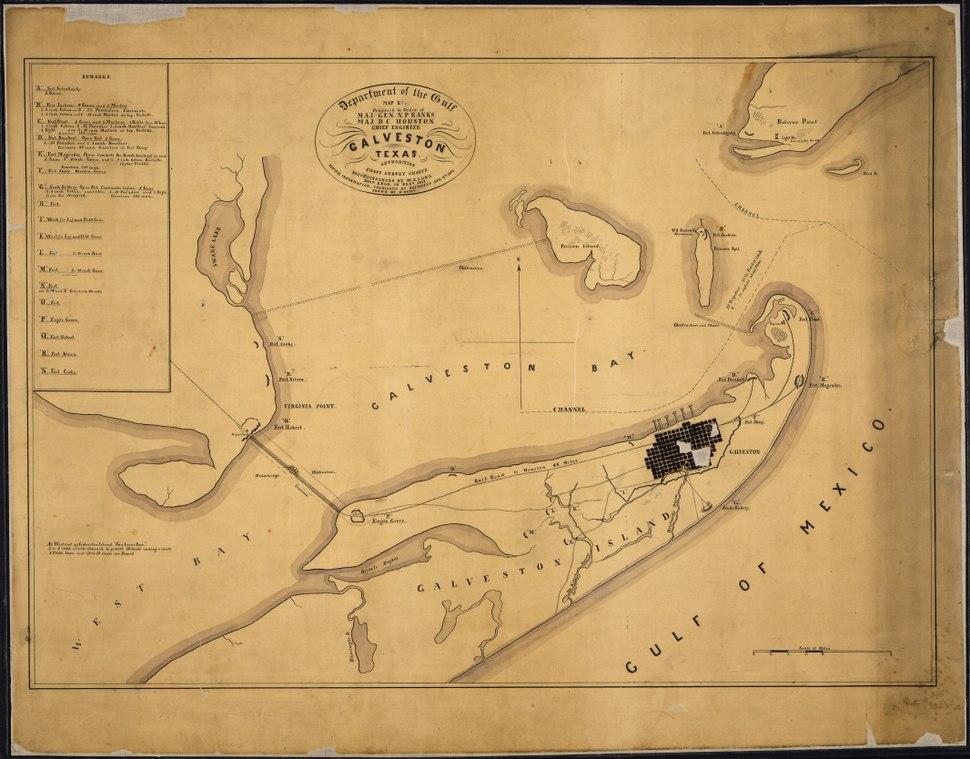 Galveston, Texas. . . Prepared by Order of Maj. Gen. N. P. Banks. Maj. D. C. Houston, Chief Engineers... Authorities... - NARA - 305663
