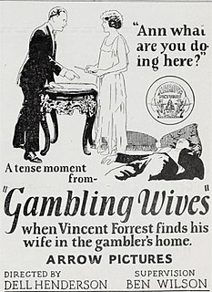<i>Gambling Wives</i> 1924 film by Dell Henderson