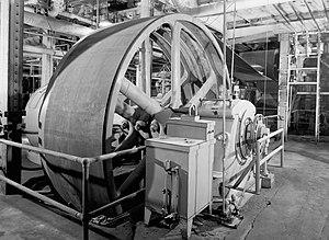 Utah-Idaho Sugar Company - Ingersoll Rand vacuum pump at the Garland factory