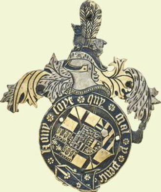 Arthur Plantagenet, 1st Viscount Lisle - Garter stall plate of Arthur Plantagenet, 1st Viscount Lisle, KG, nominated to the Order of the Garter in 1542