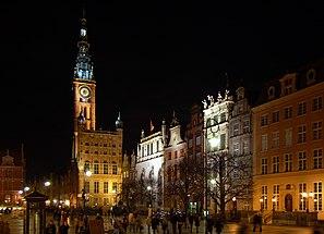 Gdańsk Długi Targ nocą