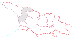 Location of Samegrelo-Zemo Svaneti within Georgia
