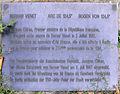 Gedenktafel An der Urania 17 (Schö) Bernar Venet.jpg