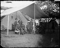 Gen. Ulysses S.Grant, and staff of nine, recognized, Col. Adam Badeau, Gen. Cyrus B. Comstock, Col. Frederick T.... - NARA - 526204.tif