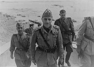 Mediterranean and Middle East theatre of World War II - General Ettore Bastico, Supreme Commander of Axis Forces in North Africa.