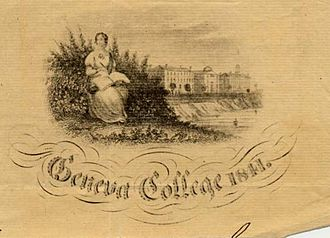 Hobart and William Smith Colleges -  Ad for Geneva College, 1841