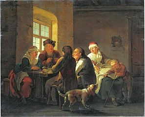 A Family Lunching in a Tavern
