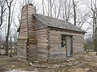 National Register of Historic Places listings in Hamilton County, Indiana - Image: George Boxley Cabin, southern and western sides