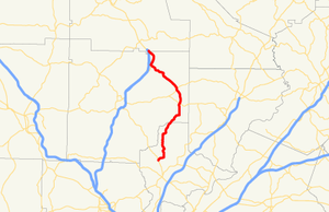 Georgia State Route 372 - Image: Georgia state route 372 map