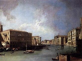 Ca' Rezzonico - Image: Giovanni Antonio Canal, il Canaletto Grand Canal Looking North from Near the Rialto Bridge WGA03874