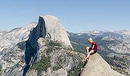 Girl Posing at Glacier Point Yosemite 2013.jpg