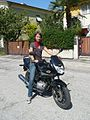 Girl on Honda CBF 125 - 04.jpg