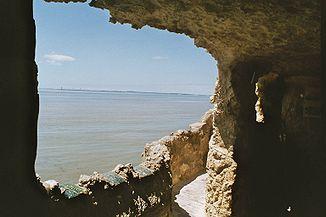 Die Mündung der Gironde vom rechten Ufer aus gesehen