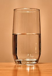 """In the """"Is the glass half empty or half full?"""" phenomenon, the pessimistic approach would be to pick half empty."""
