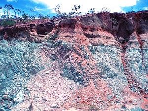 Greensand - Occurrence of glauconitic siltstone in the Serra da Saudade ridge, in theAlto Paranaíbaregion,Minas Gerais state, Brazil.