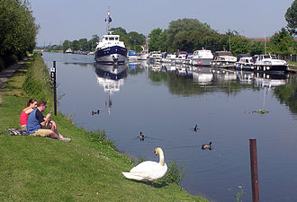 Gloucester and Sharpness Canal - The canal at Patch Bridge, near the Wildfowl Reserve at Slimbridge