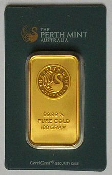 Gold Ingot From The Perth Mint