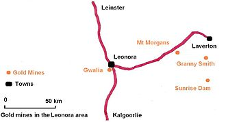 Granny Smith Gold Mine - Gold mines in the Leonora region.