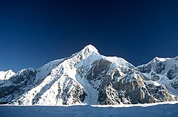 Gorkiy Peak from South Inylchek Glacier.jpg