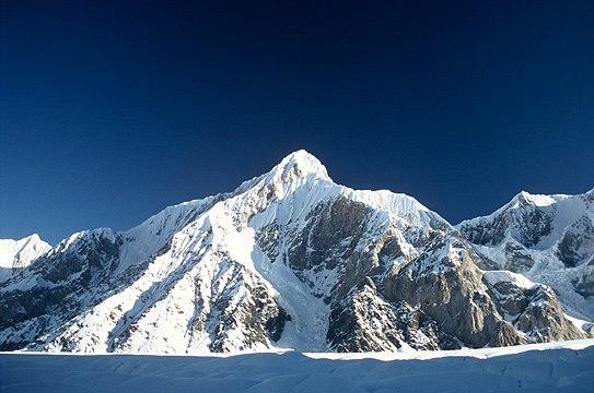 Gorkiy Peak from South Inylchek Glacier