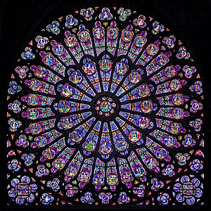 Rayonnant - Rayonnant rose window from Notre-Dame de Paris.