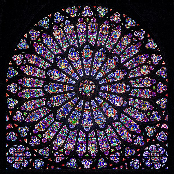 The Rayonnant North Rose Window Of Notre Dame De Paris About 1250