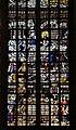 Gouda, st. janskerk, vetrata 07 fondazione del tempio di salomone e ultima cena, di Dirck Pietersz. Crabeth, 1557, 03.jpg