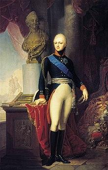 Kaiser Alexander I. um 1801, Gemälde von Wladimir Lukitsch Borowikowski (Quelle: Wikimedia)