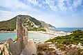 Granite rock in Punta Molentis in Sardinia, Italy (48399551062).jpg