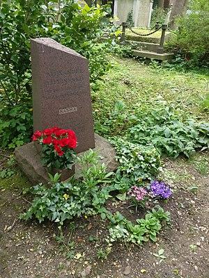 Das Grab Alexander Litwinenkos, London Highgate-Friedhof 2017