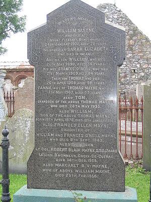 Paddy Mayne - Mayne's grave Movilla Abbey graveyard in Newtownards