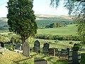 Graveyard, looking over the Medrad valley - geograph.org.uk - 181816.jpg