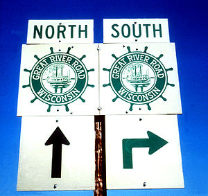 Great River Road - The distinctive route marker displayed along the entire 10-state routing of the Great River Road