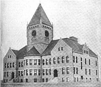 Great Falls High School - The original Great Falls High School Building, constructed in 1896.