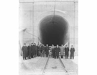 Cascade Tunnel - Opening of the new tunnel, January 12, 1929.