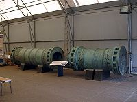 Dismantled Dardanelles Gun in 2007 at Fort Nelson