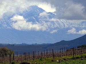 Groot Winterhoek - Grootwinterhoek Peak, looming at 2077 m, above the northern Breede River Valley.