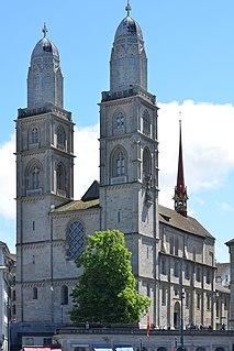 Grossmünster Swiss church in Zurich