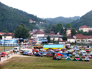 Guča Place in Moravica District, Serbia