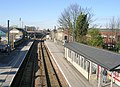 Guiseley Station - looking towards Menston - geograph.org.uk - 689028.jpg